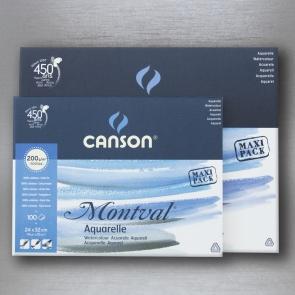 CANSON - MAXI PACK MONTVAL 100% CELLULOSA 100 FOGLI DA 200 gr.
