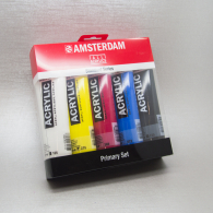 TALENS - PRIMARY SET ACRYLIC AMSTERDAM 120 ML