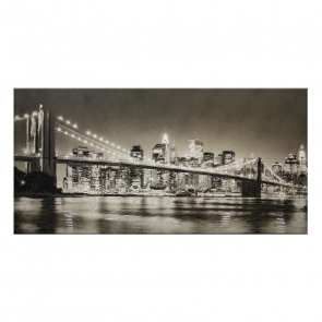NEW YORK BROOKLIN BRIDGE-B/N