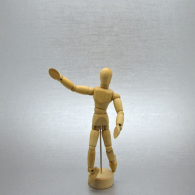 MAIMERI - MANICHINI UOMO IN LEGNO MISURE  20/40/50  cm