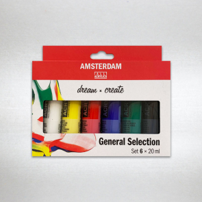 TALENS - SET AMSTERDAM ACRYLIC 6X20 ML